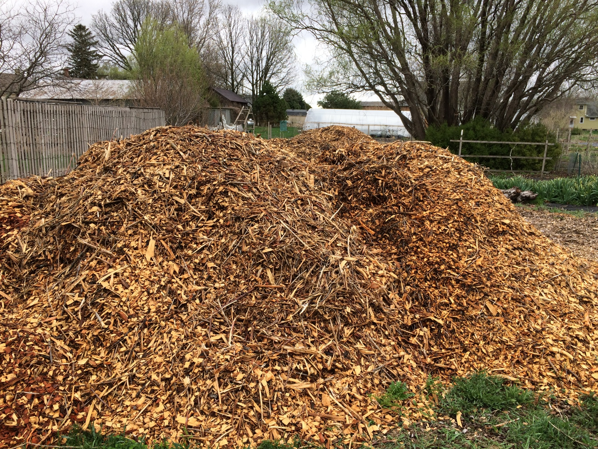 WHY WE USE WOOD CHIPS FOR MULCH - Heritage Flower Farm
